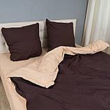 Комплект постельного белья Le Confort «Коричнево-бежевый» 200x220 Бязь, фото 4