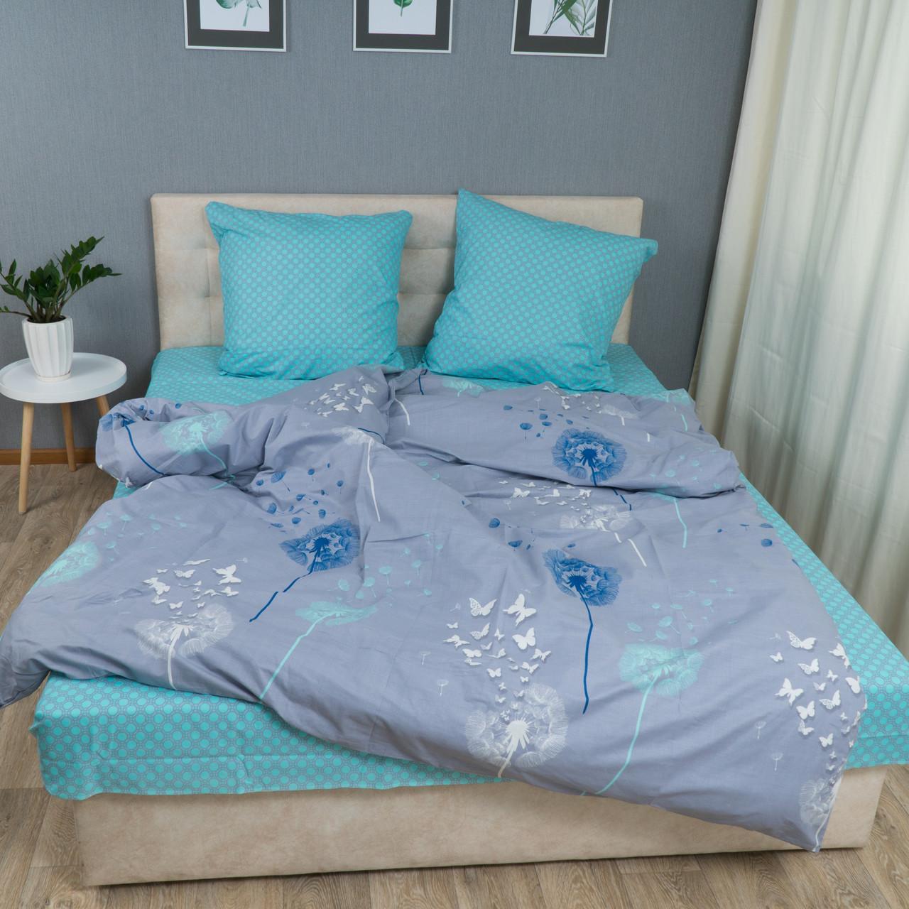 Комплект постільної Le Confort Кульбабки на сірому Двоспальний