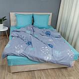 Комплект постільної Le Confort Кульбабки на сірому Двоспальний, фото 2
