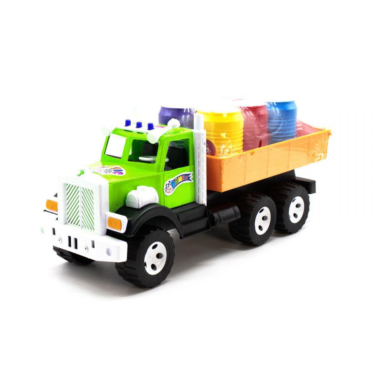 Вантажівка з бочонками Фарго зелений 3685