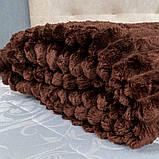 Плед Шарпей Colorful Home Темно-коричневий двоспальний 180х200, фото 2