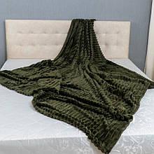 Плед Шарпей Colorful Home Темно-зелений євро 210х230