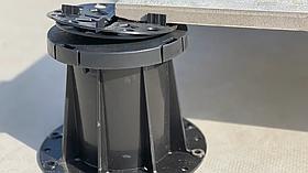 Регулируемая опора (471-651 мм) Karoapp К-А4 + 3шт. K-CL (K-A8) (Фальшпол, Опора для лаги и керамогранита )