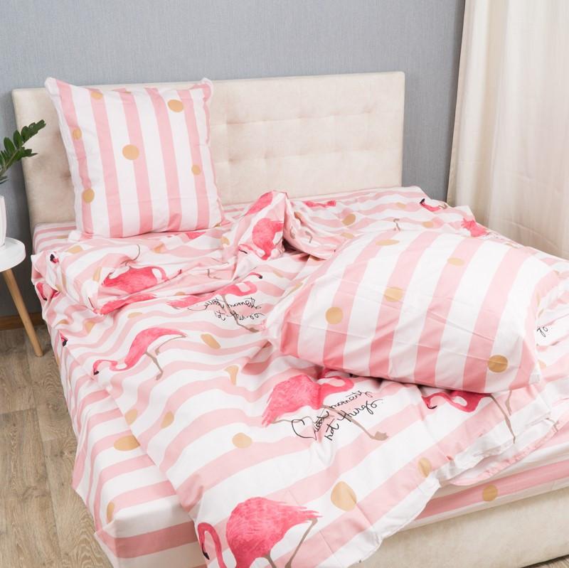 Комплект постільної Le Confort Рожеві фламінго Двоспальний