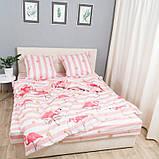 Комплект постільної Le Confort Рожеві фламінго Двоспальний, фото 3