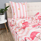 Комплект постільної Le Confort Рожеві фламінго Двоспальний, фото 2