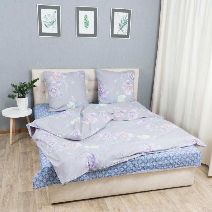 Комплект постільної Le Confort Фіолетові квіти Полуторний