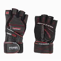 Экипировка Перчатки для фитнеса Power System, черно красные - PS-2810 S