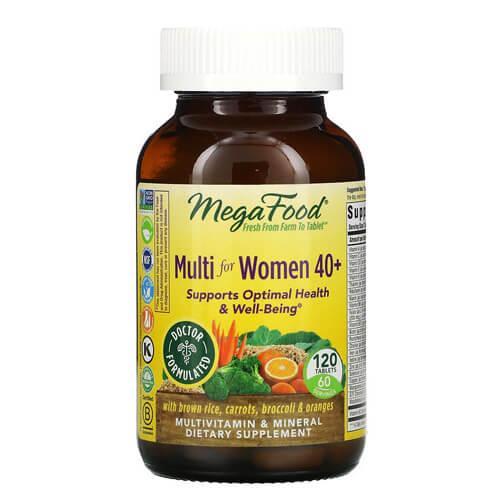 Мультивитамины для женщин старше 40 лет, MegaFood Multi for Women 40+ 60 таб