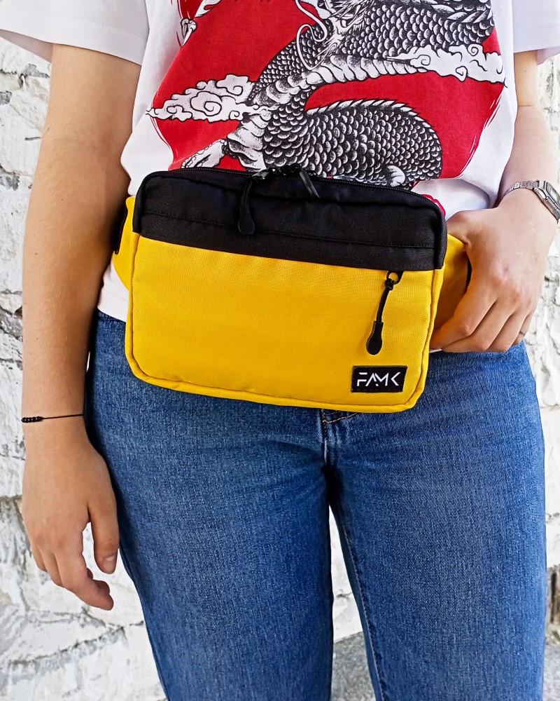 Поясна сумка Famk R3 Yellow black