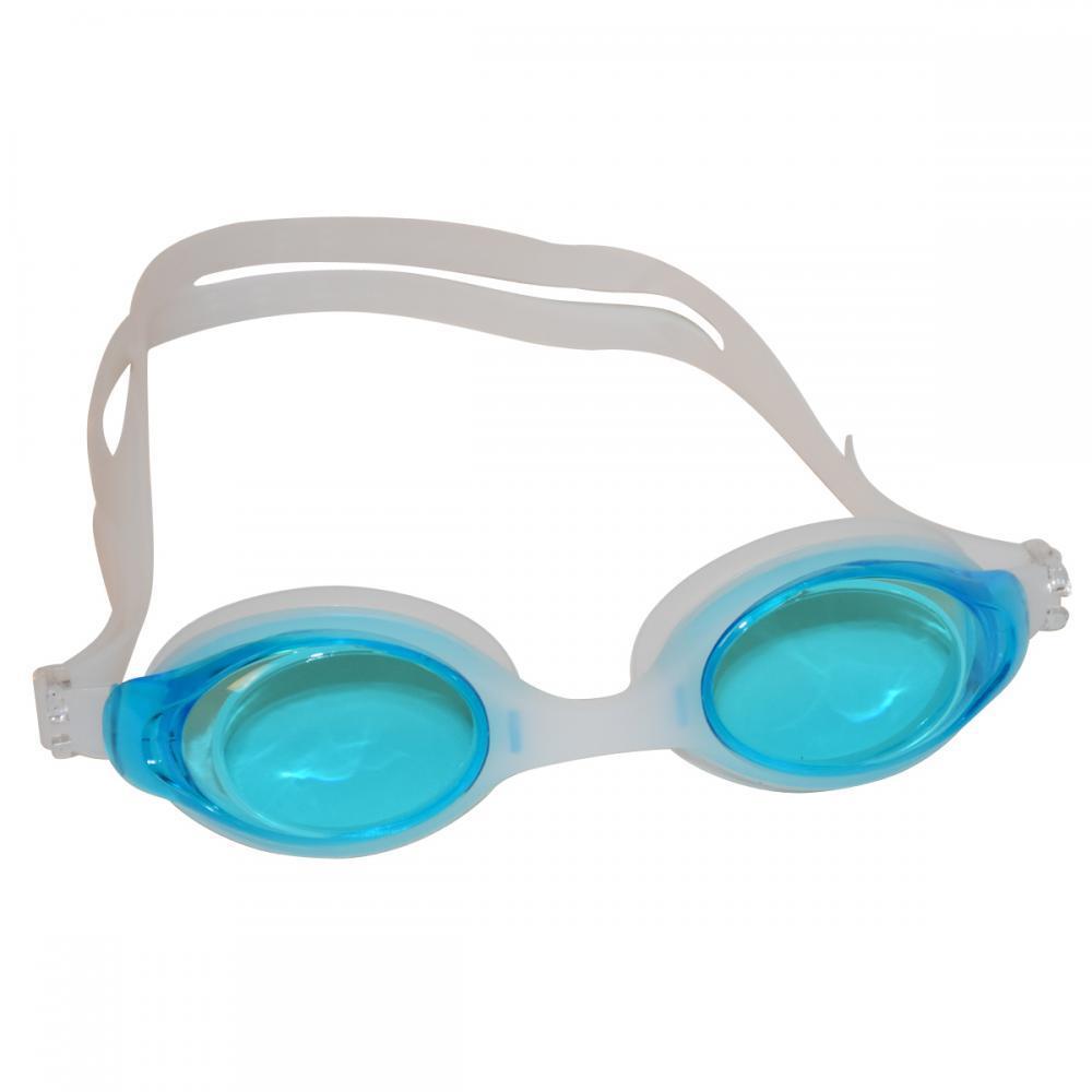 Очки для плавания подростковые J8220-3. Цвет голубой.