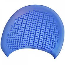 Шапочка для плавання на довгі волосся GP-002-blue