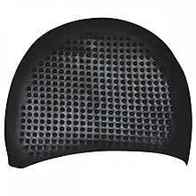 Шапочка для плавання на довгі волосся GP-006-black