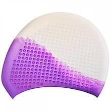 Шапочка для плавання на довгі волосся GP-008-white-violet