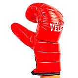 Снарядные перчатки кожаные VELO красные 4003ULIZ-M, фото 2