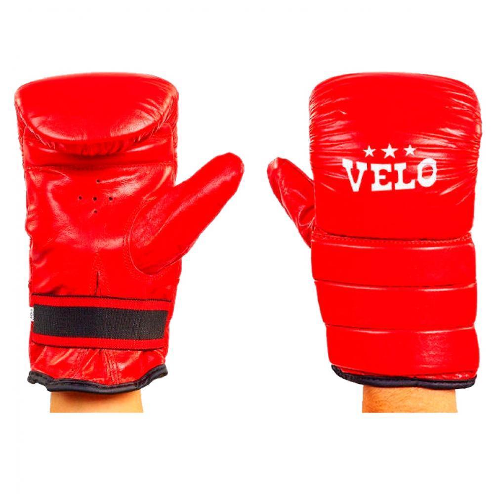 Снарядные перчатки кожаные VELO красные 4003ULIZ-XL