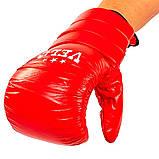 Снарядные перчатки кожаные VELO красные 4003ULIZ-XL, фото 3