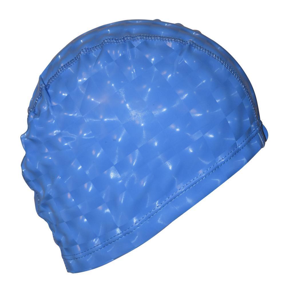 Шапочка для плавання 3D універсальна синя PM-3D-blue