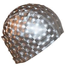 Шапочка для плавання 3D універсальна сіра PM-3D-gray