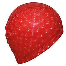 Шапочка для плавання 3D універсальна червона PM-3D-red