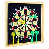 Мишень для игры в дартс настольная магнитная ZBL-201, размер 24х24 см, фото 2