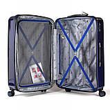Валіза пластиковий Sumdex 4-х колісний (середній) темно-синій, фото 6