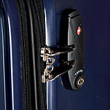 Валіза пластиковий Sumdex 4-х колісний (середній) темно-синій, фото 7