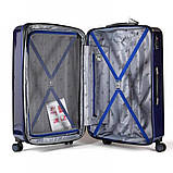 Чемодан  пластиковый Sumdex 4-х колёсный (большой) темно-синий, фото 6