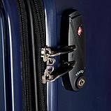 Чемодан  пластиковый Sumdex 4-х колёсный (большой) темно-синий, фото 7