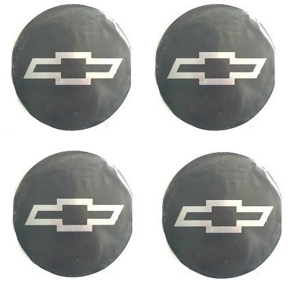 Наклейка на ковпаки CHEVROLET (90мм) чорна (4шт)