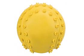 TX-34841 мяч с пищалкой(резина)6см,жёлт+шипы