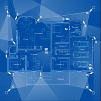 IP відеоспостереження 16 камер (2Мп) для приватного будинку