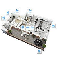 IP відеоспостереження 6 камер (2 Мп) для приватного будинку