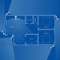 Відеоспостереження AHD 2Мп 6 камер для приватного будинку