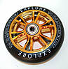 Колеса для трюковых самокатов Scooter Wheel 110 Silver, Gold, черные, фото 4
