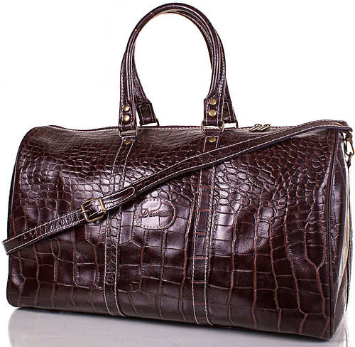 Дорожная  мужская кожаная  сумка 30 л. DESISAN (ДЕСИСАН) SHI504-D-10KR