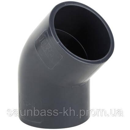 Колено ПВХ Era USE0163 45°, d63 мм