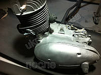 Очистка двигателя мотоцикла, деталей мотоцикла.