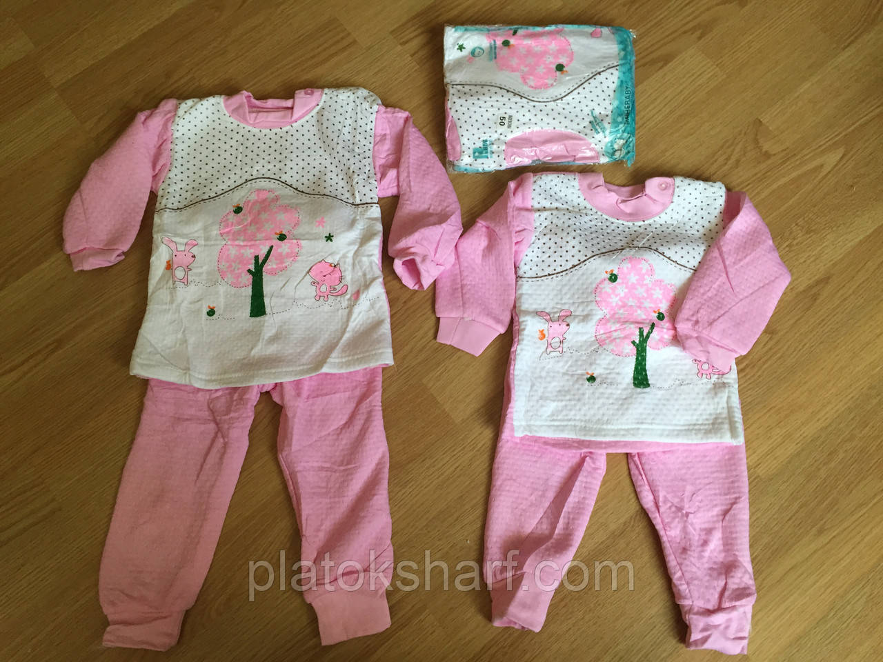 Пижамы для девочек, теплые пижамы до 2 лет