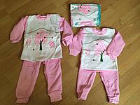 Пижамы для девочек, теплые пижамы до 2 лет, фото 1