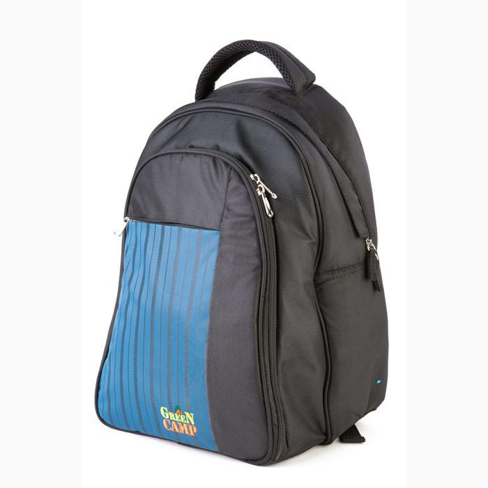 Рюкзак-пікнік GREEN CAMP  Рюкзак пікнік на 6 осіб , колір чорно-синій