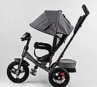Детский трехколесный велосипед, надувные колеса, фара Usb, пульт, защитный козырек, Best Trike 3390 / 43-565, фото 2