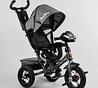 Детский трехколесный велосипед, надувные колеса, фара Usb, пульт, защитный козырек, Best Trike 3390 / 43-565, фото 3
