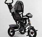 Детский трехколесный велосипед, надувные колеса, фара Usb, пульт, защитный козырек, Best Trike 3390 / 43-565, фото 4