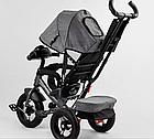 Детский трехколесный велосипед, надувные колеса, фара Usb, пульт, защитный козырек, Best Trike 3390 / 43-565, фото 5
