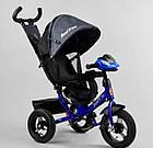 Детский трехколесный велосипед, надувные колеса, фара Usb, пульт, защитный козырек, Best Trike 3390 / 81-338, фото 2