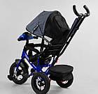Детский трехколесный велосипед, надувные колеса, фара Usb, пульт, защитный козырек, Best Trike 3390 / 81-338, фото 3
