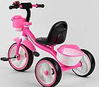 Детский трехколесный велосипед, колеса EVA со светом и звуком, звоночек, 2 корзины, Best Trike 94881, фото 2