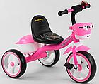 Детский трехколесный велосипед, колеса EVA со светом и звуком, звоночек, 2 корзины, Best Trike 94881, фото 3