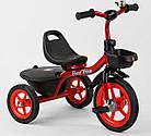 Детский трехколесный велосипед, резиновые колеса, звоночек, 2 корзины, накладки на руле, Best Trike BS-1788, фото 2